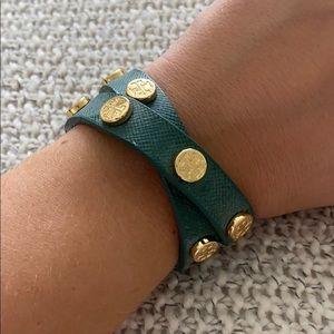 Green Tory Wrap Bracelet